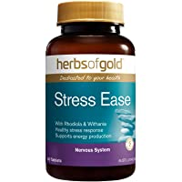 Herbs of Gold Stress Ease Adrenal Support 60 Tablets, 60 count