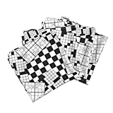 Puzzle Crossword Sudoku Black and White Words Game Fun Organic Sateen Dinner Napkins The Daily Puzzles by Robyriker Set of 4 Dinner Napkins