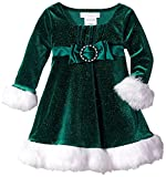 Best Sparkle Dress For Babies - Bonnie Baby Baby Girls Sparkle Stretch Velvet Santa Review