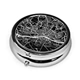 ZZguowuque Round Pill Case with 3