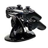 Mondpalast Dual Docking Station Dock Charger Charging Stand Charging Base for Sony Playstation 3 PS3 Controller