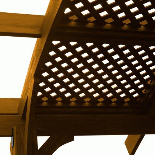 - Baystate SONOMA12RLATT Lattice Roof Sonoma Pergola in Redwood Finish - 4 Piece