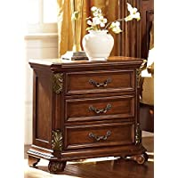 Messina Estates 3 Drawer Nightstand in Cognac