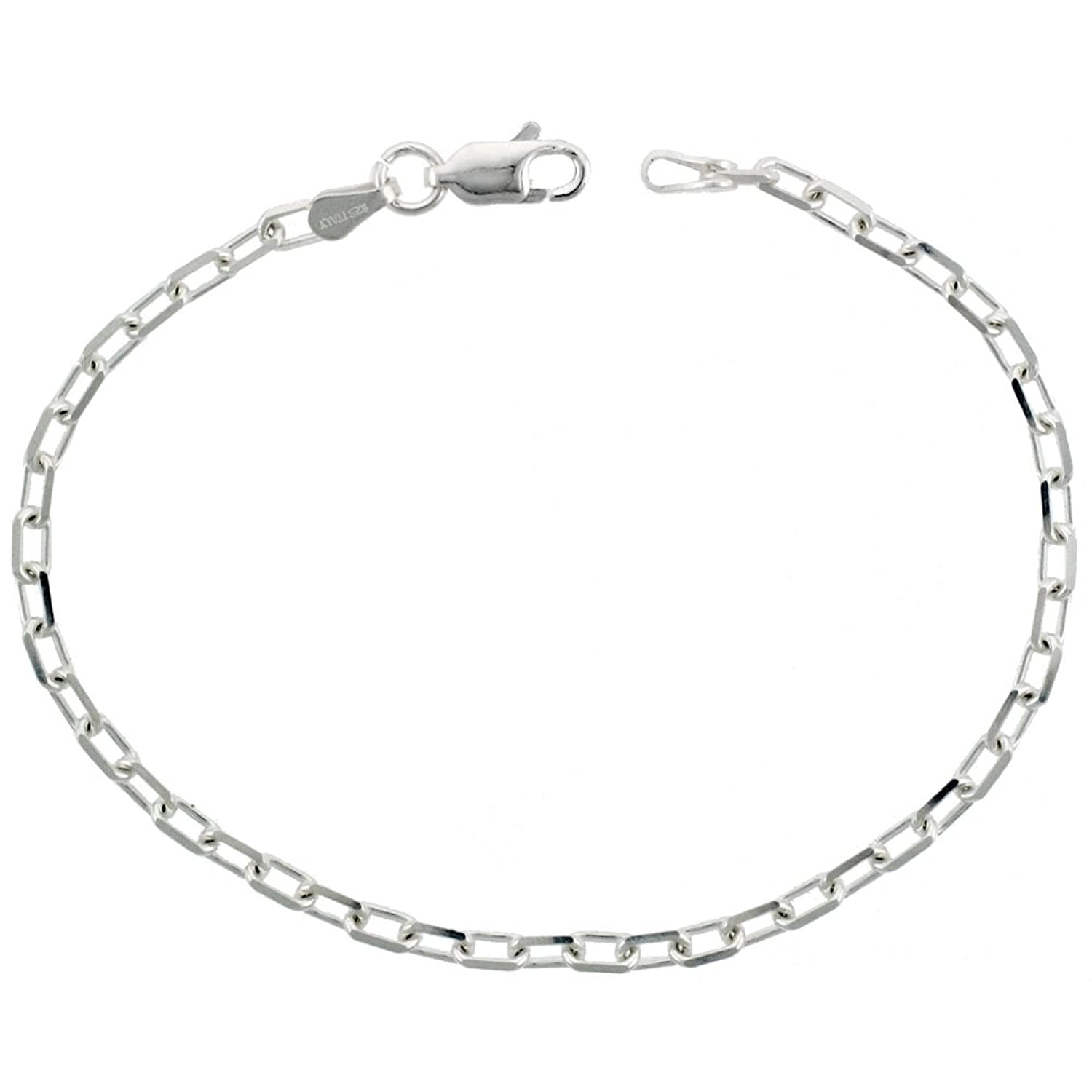 u free class sterling jewelry only ab sizes shipments silver anklet shipping s bracelets usps on