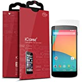 iCarez LG Google Nexus 5 [HD Anti-Glare] Premium Screen Protector [ Unique Hinge Install Method With Kits ] 3-Pack with Lifetime Replacement Warranty
