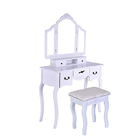 Awesome Amazon Com Pollyhb Dressing Table Vintage Style Makeup Ibusinesslaw Wood Chair Design Ideas Ibusinesslaworg