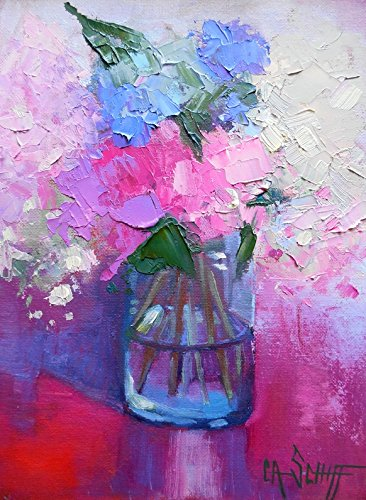 Original Floral Still Life Oil One of a Kind 6x8