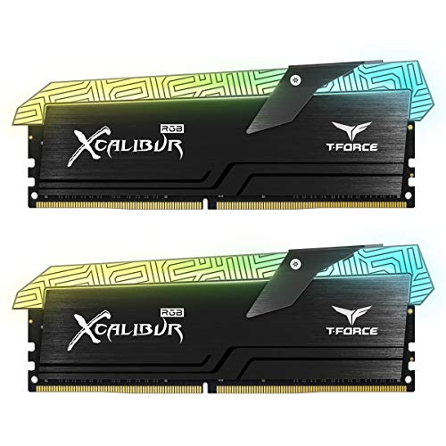 TEAMGROUP T-Force Xcalibur RGB DDR4 16GB (2x8GB) 4000MHz (PC4-32000) CL18 Desktop Memory Module ram TF6D416G4000HC18EDC01 - Special Edition ()