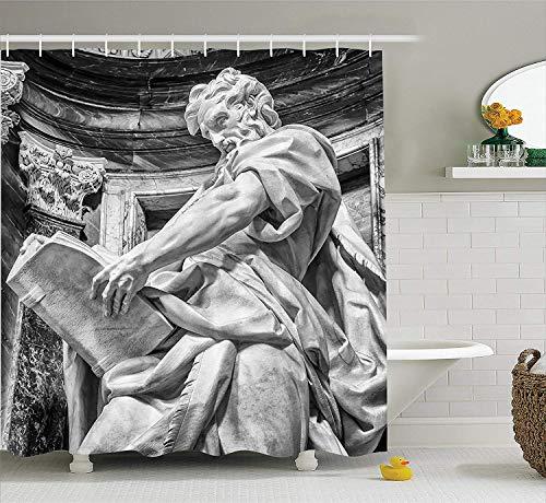 Nyngei-Esculturas-deEstatuade-San-Mateo-en-la-Basilicade-San-Juande-Letran-Roma-Catedra-con-pilares-de-de-con-Gris-palido