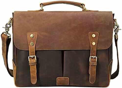 Color : Black 2, Size : 39x28x8cm Kindlov-BG Men Laptop Briefcase Bag Mens Business Casual Briefcase Top Layer Leather Tote Bag Laptop Bag Shoulder Crossbody Bag for School Travel