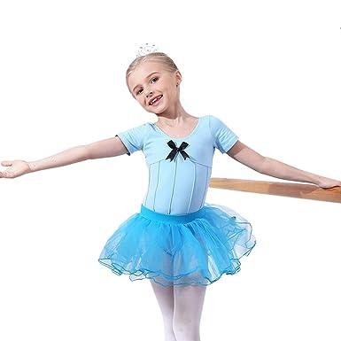 Zizimo Maillot de Ballet Niña Tutú Vestido con Braga ...