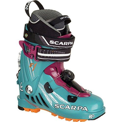 Touring Boots Scarpa Ski (Scarpa Women's F1 Ski Boots Arctic Blue / Purple 25)