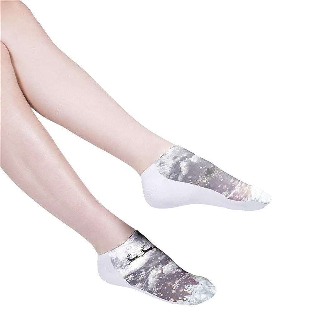 2019 Newest Christmas Socks Unisex,Colorful Tie Dye Compression Socks Soccer Socks High Socks Shorts Socks,