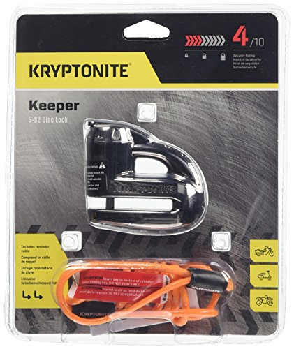- Kryptonite 000877 Keeper 5s Black Chrome Disc Lock