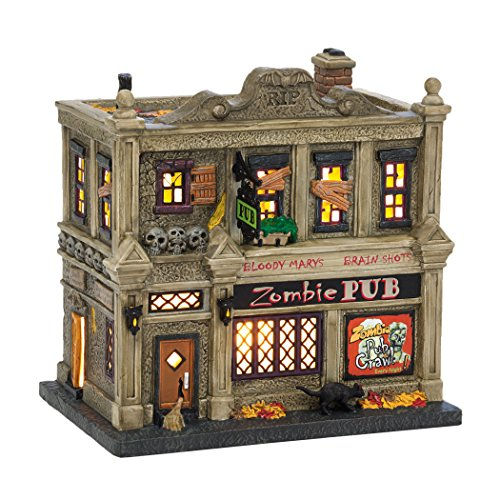 Department 56 Village Halloween The Zombie Pub Lit House
