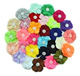 Pinterest Bathtubs CellElection 30 Pcs Handmade Pearl Chiffon Flower for DIY Heahbands,Hairclips Embellishments without clips