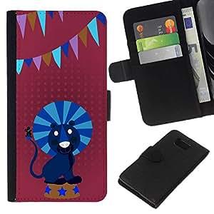 All Phone Most Case / Oferta Especial Cáscara Funda de cuero Monedero Cubierta de proteccion Caso / Wallet Case for Samsung ALPHA G850 // Circus lion