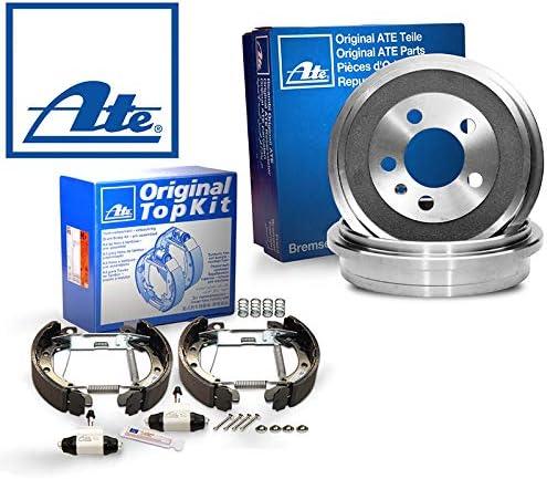 1420-52357 Bremsanlage Bremstrommeln Trommelbremse Original 2 Bremstrommeln Bremsbackensatz Topkit Vormontiert Hinten von ATE Bremstrommelsatz Bremstrommel-Set