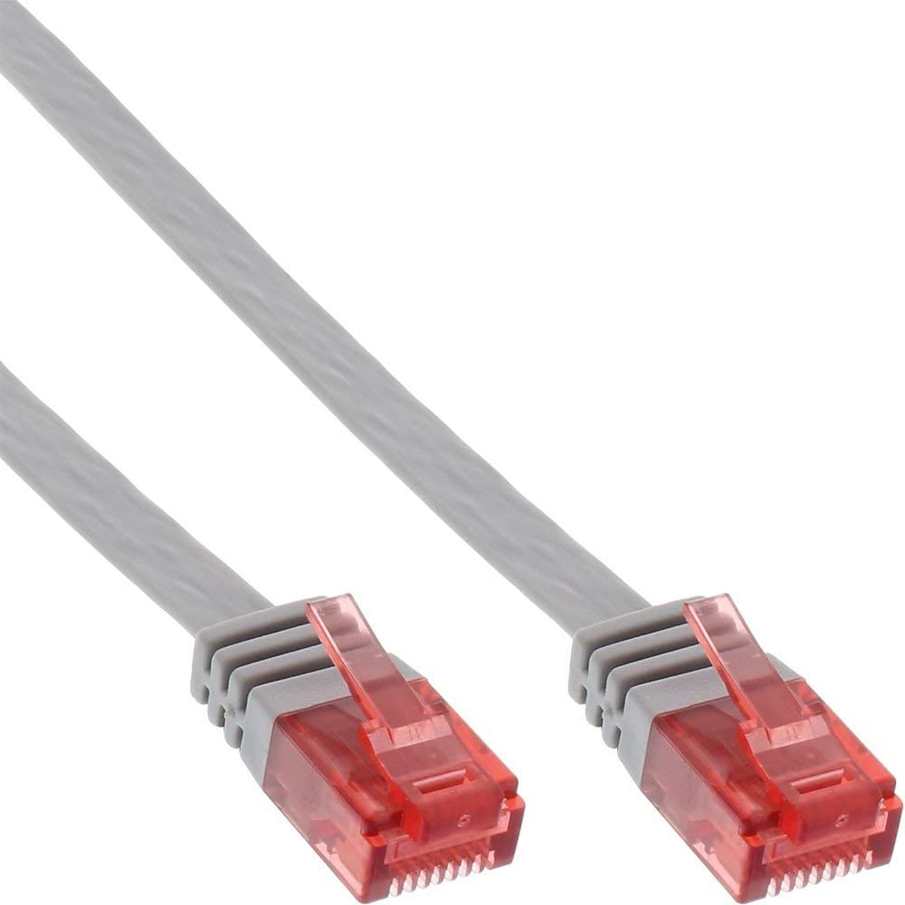 InLine Flat Patch Cord UTP Cat.6 5m Grey - Cable de Red (5 m, Gris): Amazon.es: Informática