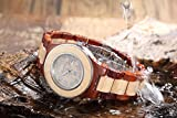 Dreamy cherry with maple color collocation, water resistant wood watch Ladies