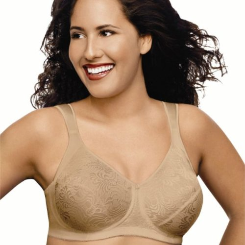 Just My Size Women's Front Close Soft Cup Plus Size Bra (1107), Nude, 48D