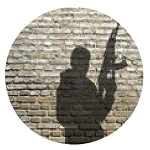 alfombrilla de ratón Figura miliciano con el rifle de asalto - ronda - 20cm