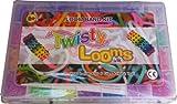 ARSUK 2000 Colourful Loom Rubber Bands Bracelet Making Tool Kit Board Loom Bracelets In Carry Case