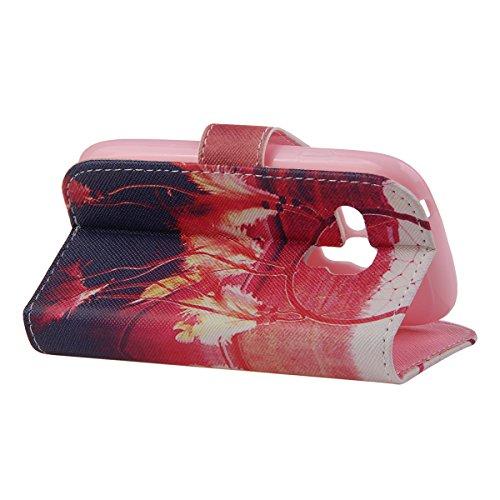 Funda para Galaxy S3 Mini, Flip funda de cuero PU para Galaxy S3 Mini, Galaxy S3 Mini Leather Wallet Case Cover Skin Shell Carcasa Funda, Ukayfe Cubierta de la caja Funda protectora de cuero caso del  Sunset Dreamcatcher