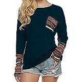 Lisli T-Shirt Woman Blouse Tops Manche Long Col Round Lace Poche Slim Casual