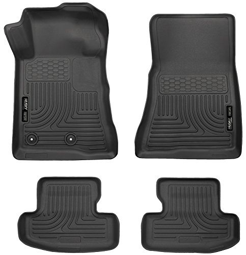 Liner Convertible (Husky Liners Front & 2nd Seat Floor Liners Fits 10-14 Mustang Convertible/Coupe)