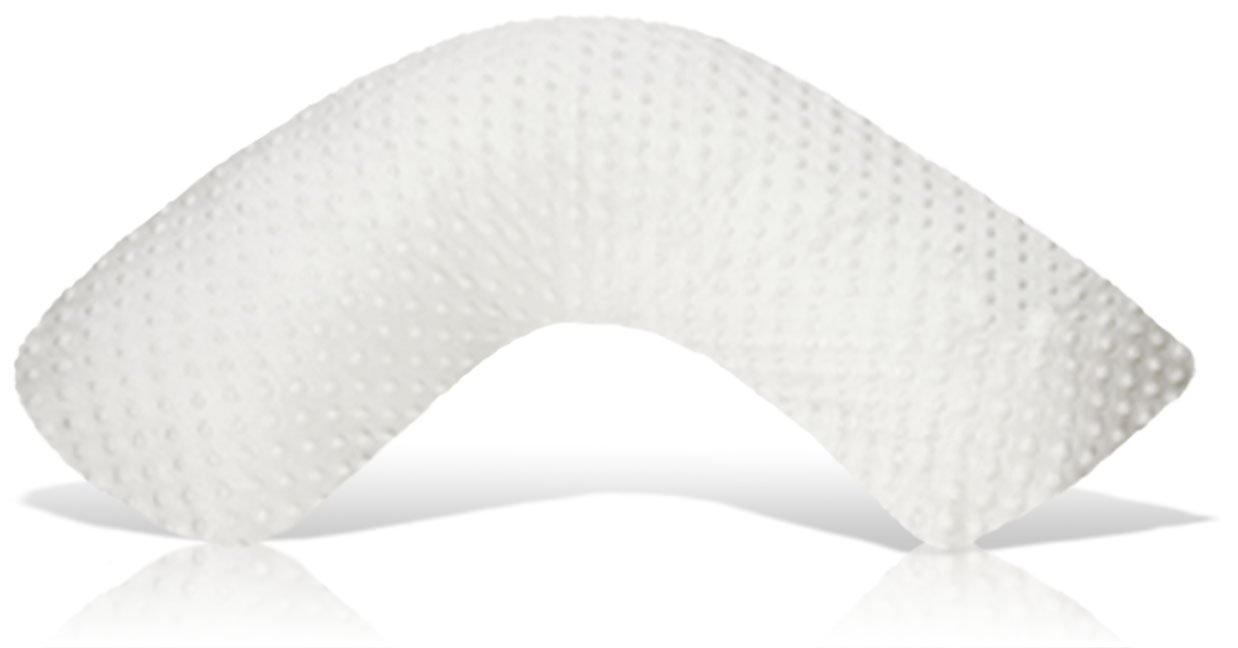 Luna Lullaby Bosom Baby Nursing Pillow, White Dot