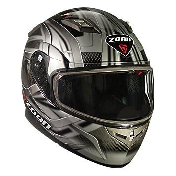 Zoan Flux 4.1 Diablo Plata Modular Flip Up cara motocicleta casco de equitación, talla XS