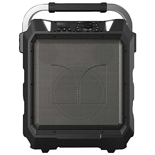 Monster Rockin Roller 80 Watts, 80 - Hour Battery, High Performance Portable Indoor - Outdoor Water Resistant Wireless Bluetooth Speaker, Night View LED, - Black