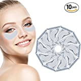 eye bag removal - Anti Aging Treatments Set / Kit of 10 Pairs Eyes Milk White Collagen Gel Crystal Masks / Patches / Pads for Wrinkles / Crows Feet, Dark Circles and Puffiness / Puffy Eye Bags Removal and Moisturizing