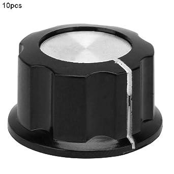 Sourcingmap 4/mm Schaft Loch Durchmesser Lautst/ärkeregler Potentiometer Drehknopf Cap/ 2-teilig /schwarz