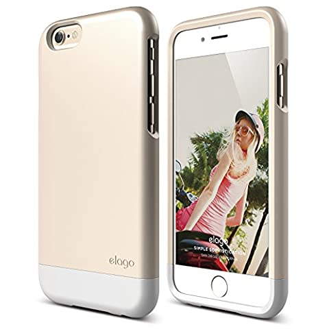 iPhone 6 Case, elago [Glide Limited-Edition][Champagne Gold / White] - [Mix and Match][Premium Armor][True Fit] – for iPhone 6 (Phone Covers For Iphone 6 Elago)