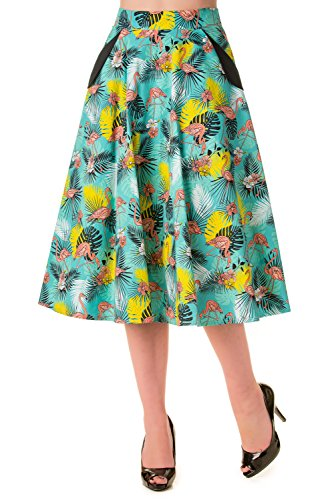 Banned Wanderlust Flamingo Print Vintage Skirt free shipping