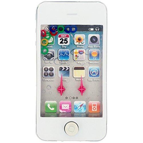 Promobo -Téléphone Jouet Enfant Jeu Adresse Eau Smartphone Blanc