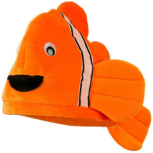 Plush Novelty Clown Fish Ocean Animal Hat (Nemo And Marlin Costumes)