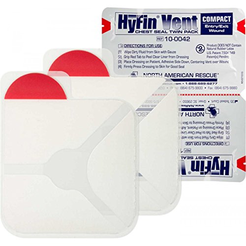 Vent Twin - North American Rescue Genuine NAR HyFin Vent Compact Chest Seal Twin Pack