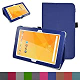 "Acer Iconia One 10 B3-A20 Case,Mama Mouth PU Leather Folio 2-folding Stand Cover with Stylus Holder for 10.1"" Acer Iconia One 10 B3-A20 Android Tablet,Dark Blue"