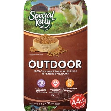 Special Kitty Outdoor 44 Lbs Bag of Dry Cat Food, Serve Them Only the Best Food, Wholesome Ingredients That Supports Their Health, Tastes Delicious, Provides Extra Energy for That Active Outdoor Life by Special Kitty Outdoor