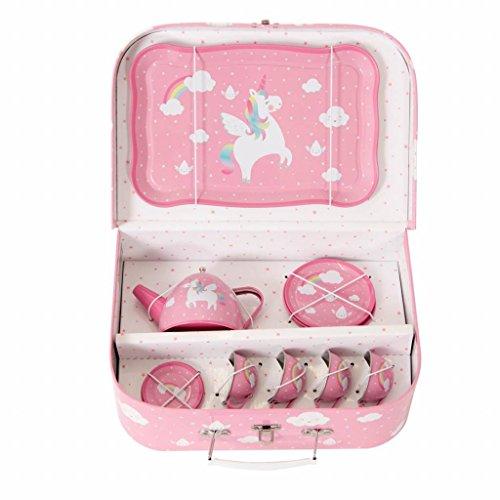 Bella Casa Ceramics - Sass and Belle Rainbow Unicorn Picnic Box Tea Set