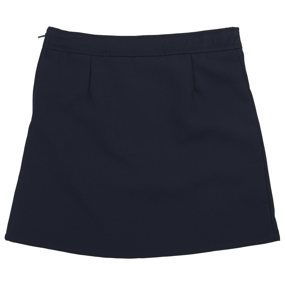 French Toast Little Girls' Two-tab Pleated Scooter, Navy, 6 by French Toast (Image #2)