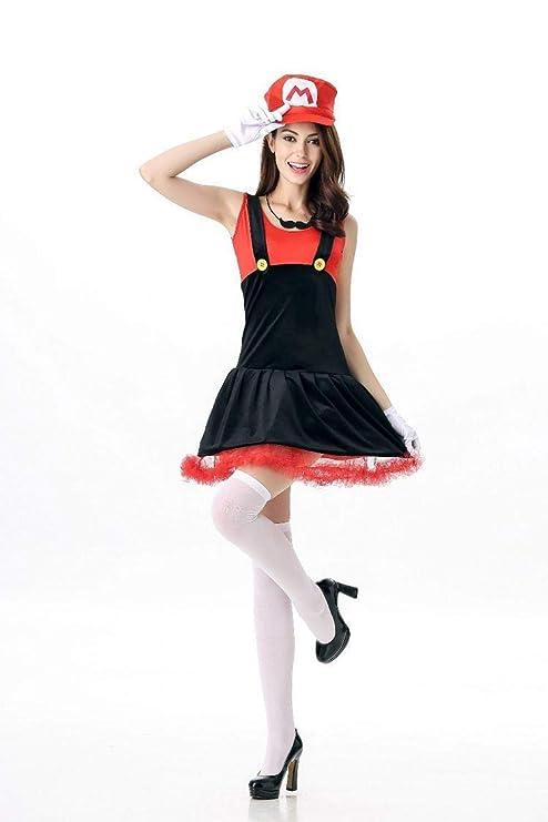 HAPPY WALK Super Mario Costume Women Halloween Cosplay Luigi ...