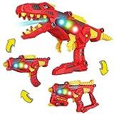 AOKESI [2019 Tyrannosaurus Rex Series Imports 3-in-1 Dinoblaster Transforming Dinosaur Gun Take Apart Toy STEM Dinosaur Toys with Lights and Sounds for Kids Boys/Girls Tool Kit