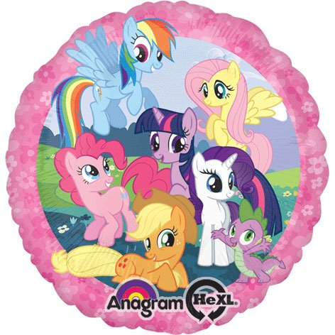Anagram International HX My Little Pony Party Balloons, Multicolor -
