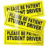 CARBATO Student Driver Magnet Safety Sign Vehicle Bumper Magnet - Car Vehicle Reflective Sign Sticker Bumper for New...