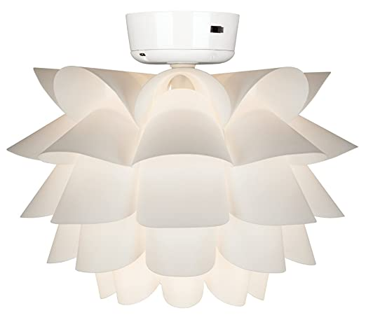 White Flower Ceiling Fan Light Kit - Flower Light Fixture - Amazon.com