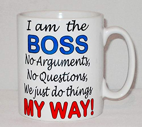 I39;m The Boss Do Things My Way Mug Can Be Personalised Funny Office Work Gift